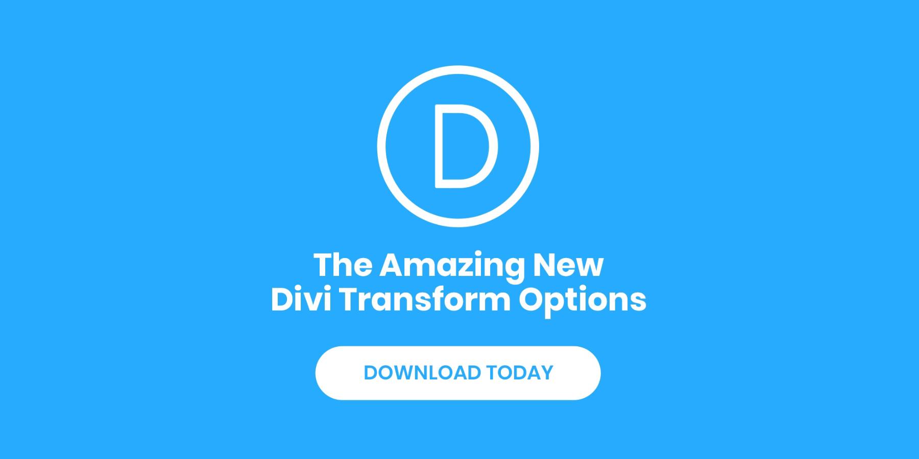 Divi Transformation Controls