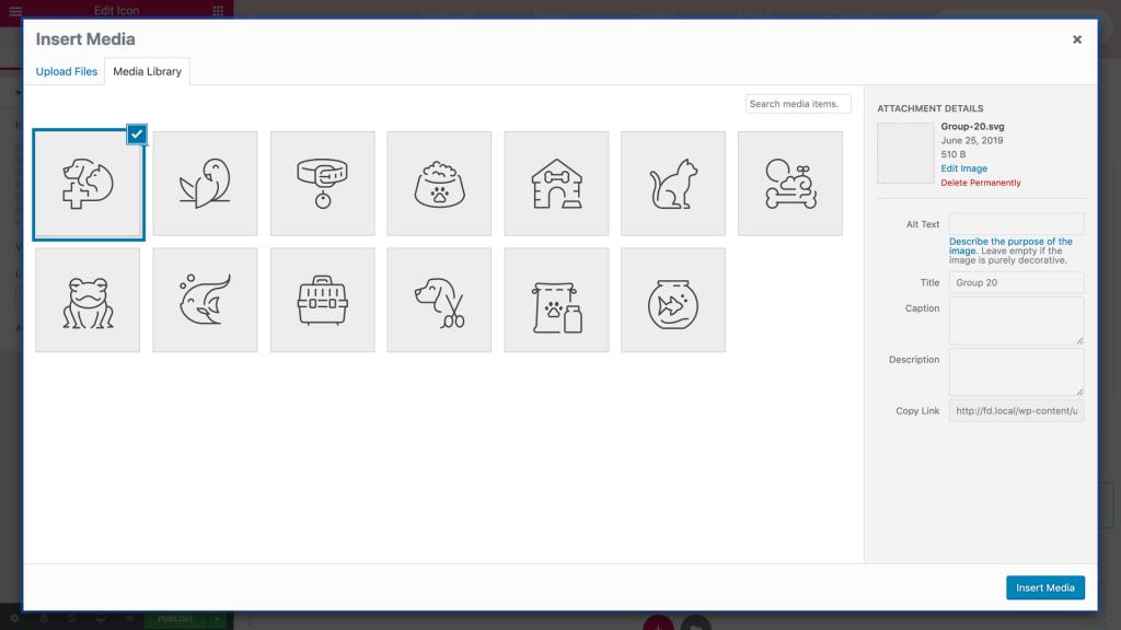 Custom SVG Icons