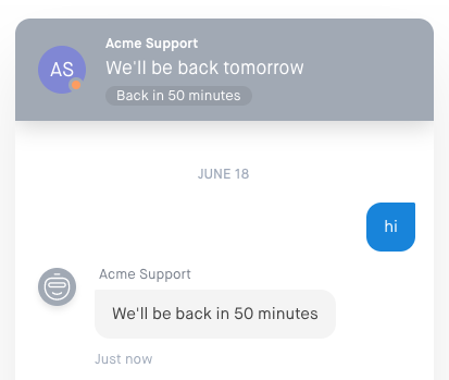 Chat Business Hours