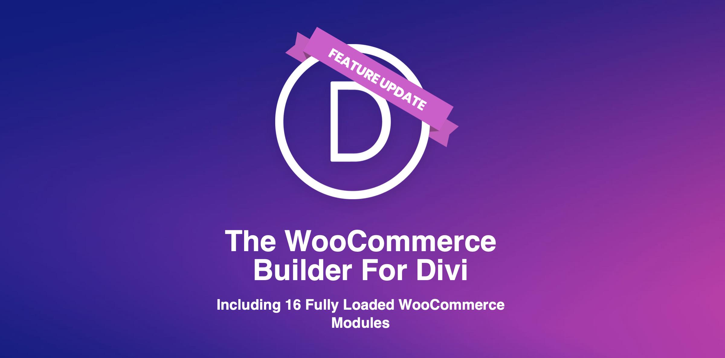 Divi WooCommerce Builder