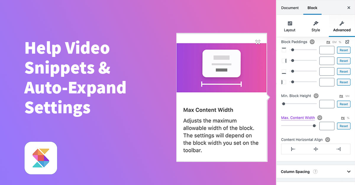 Help Video Snippets