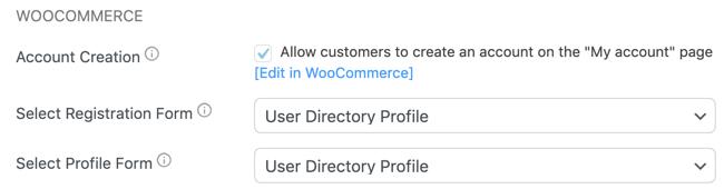 Custom WooCommerce Registration Forms